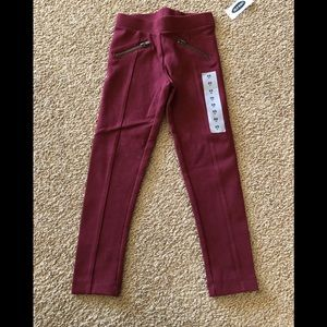 Brand new w tags girls maroon ponte pants